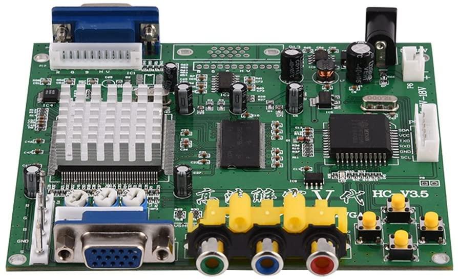 Zerone CGA/EGA/YUV/RGB to VGA Arcade Game HD Video Converter Adapter Board for CRT LCD PDP Monitor, with True Digital 24-Bit A/D Converter