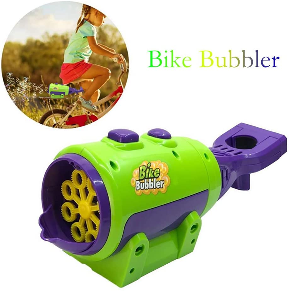 Automatic Bubble Machine, Bike Bubbler Bubble Blowing Toys Installed on Bicycle Seat Frame for Outdoor Kids Children Party