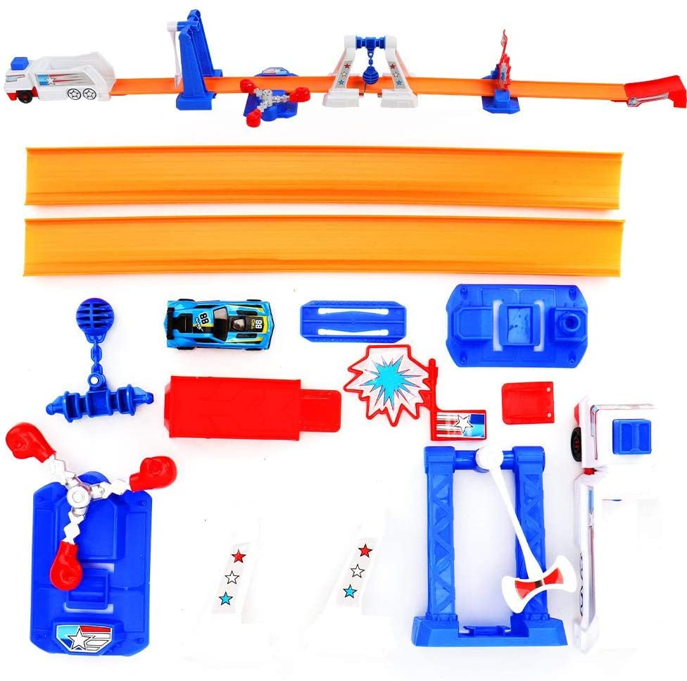 Educational Race Track Set, Kids Delicate Track Toy Set, Portable Ejection Above 2 Years Old