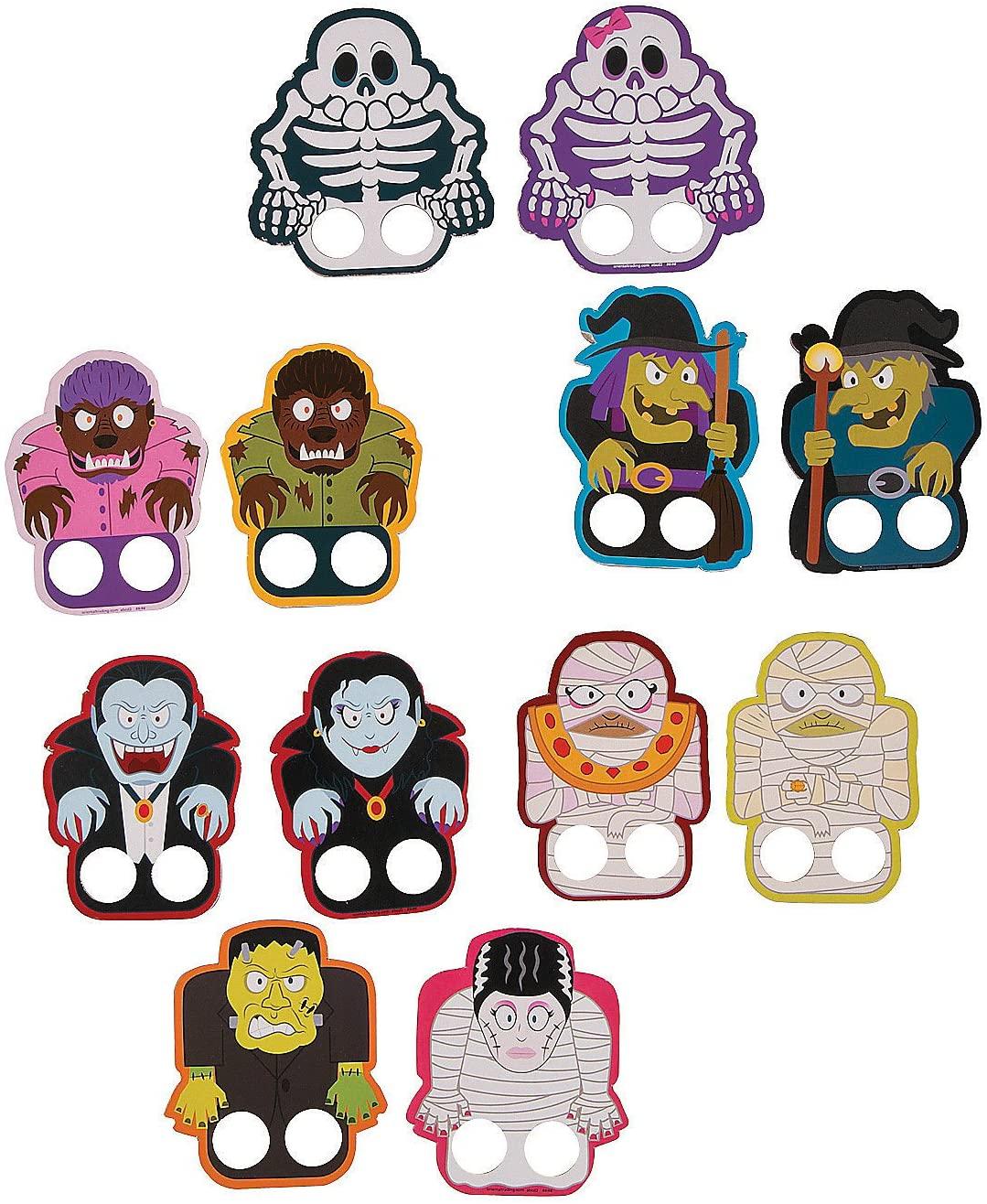 Halloween Monster Finger Puppets (Set of 72)