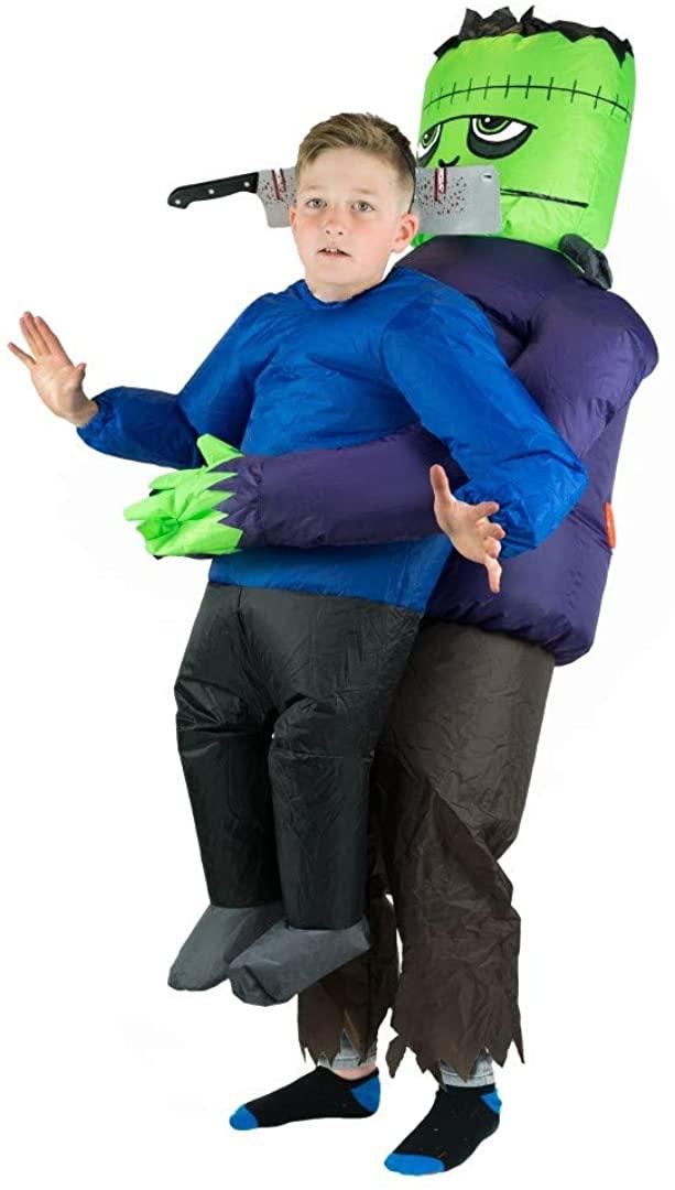 Bodysocks Kids Inflatable Frankenstein Lifting Fancy Dress Costume