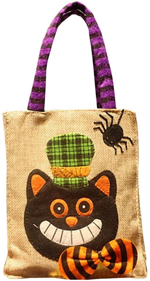 Halloween Decorations Halloween Linen Children's Party Dress Up Linen Candy Bag Begging Candy Gift Bag Props