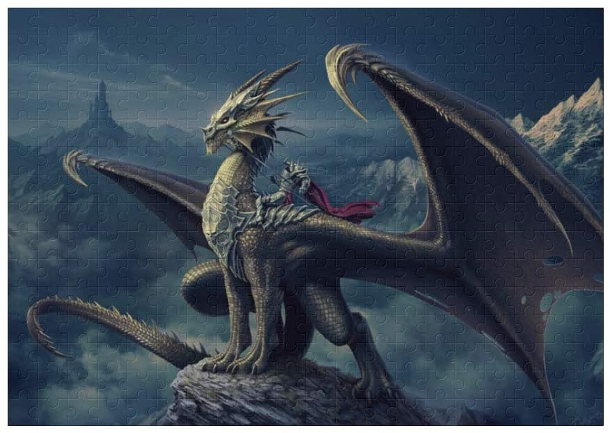 Custom Picture Puzzle, Dragon in Mountain Jigsaw Puzzle 300 Piece Educational Gift Home Decor