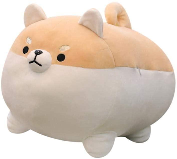 YOG Cute Fat Shiba Inu Plush Stuffe Toy ,Anime Soft Pillow , Interesting Animal ToyCartoon Doggo,Valentine's & Christmas & Birthday Gifts for Kids or Girlfriends ,16in (US Stock) (Brown)
