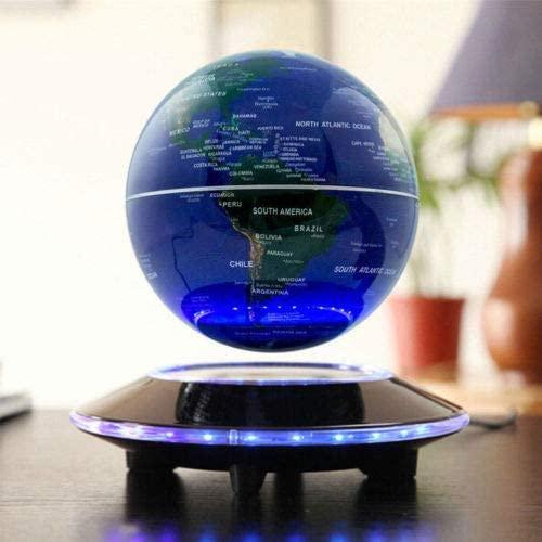 6'' Floating Globe Magnetic, Anti Gravity Floating Globe Levitation Levitating World Map LED Light Child Gift for Children Educational Gift Home Office Desk Decoration