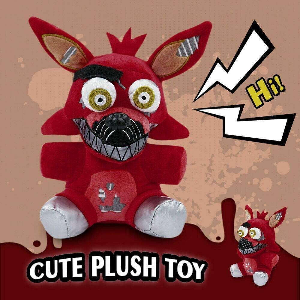Five Nights at Freddys FNAF Plush Doll Freddy Bear Foxy Bonnie Stuffed Plush Toys (The Pirate ) 7/18cm || Ship from USA
