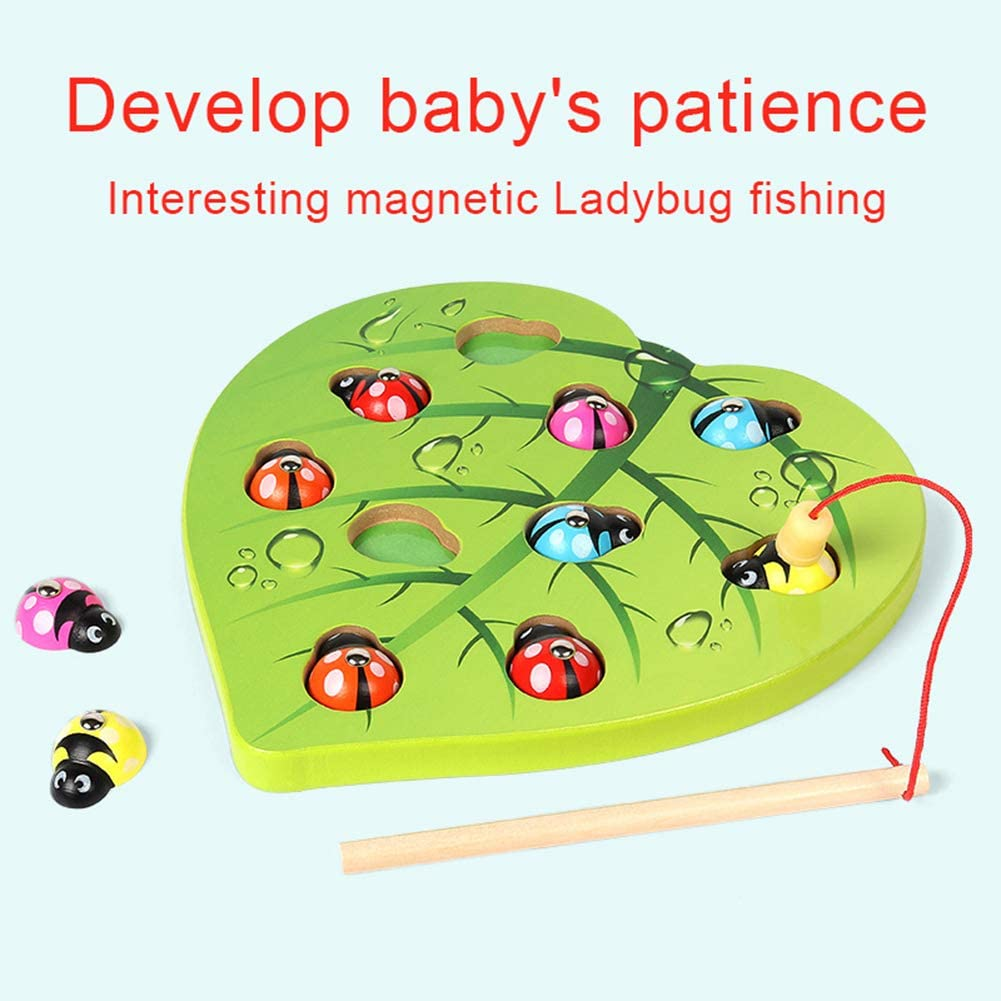 oAtm0eBcl IQ Builder |Challenging IQ Games丨Wooden Fishing Beetle Magnetic Puzzles Color Matching Early Education Kids Toy丨Mental Exercises for Sharp Young Minds - 100% Child Safe …