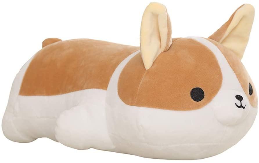 WERSOLUTION Corgi Dog Stuffed Animals Pillow Soft Corgi Plush Pillow Shiba Inu Akita Stuffed Animal Toys (23.5 inch)