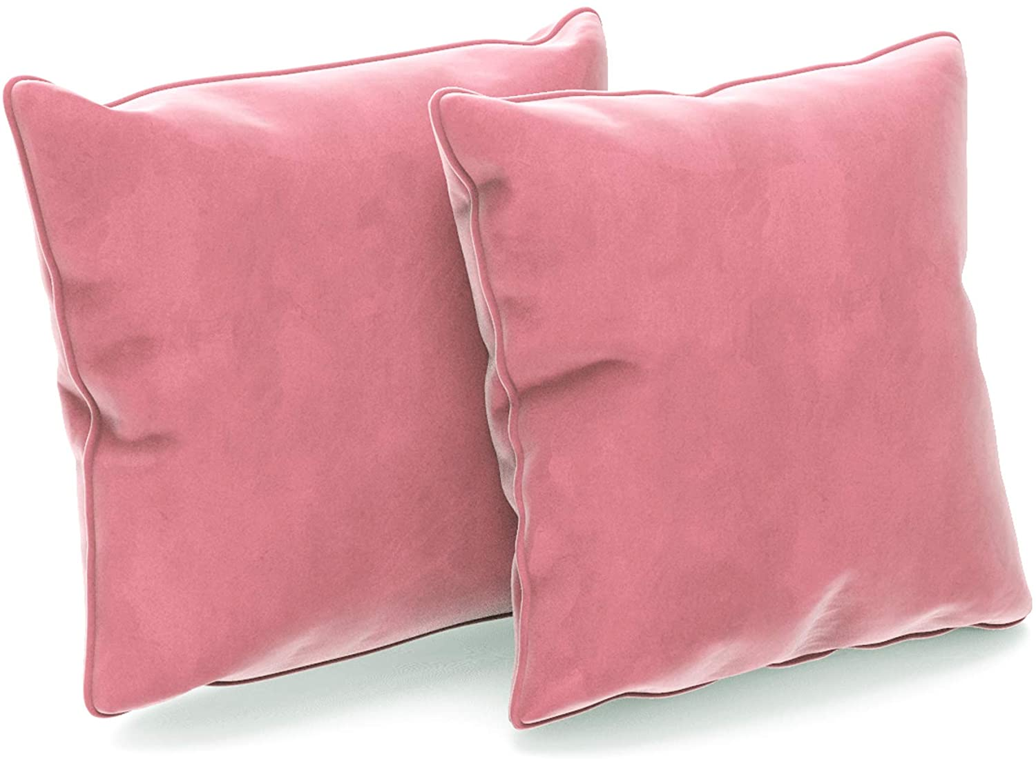 Aoubate Set of 2 Pillow Covers, Made of Velvet and Invisible Zipper,Original Fabric Edging Suitable for Home Decoration Sofa Bedroom and car,Square 20