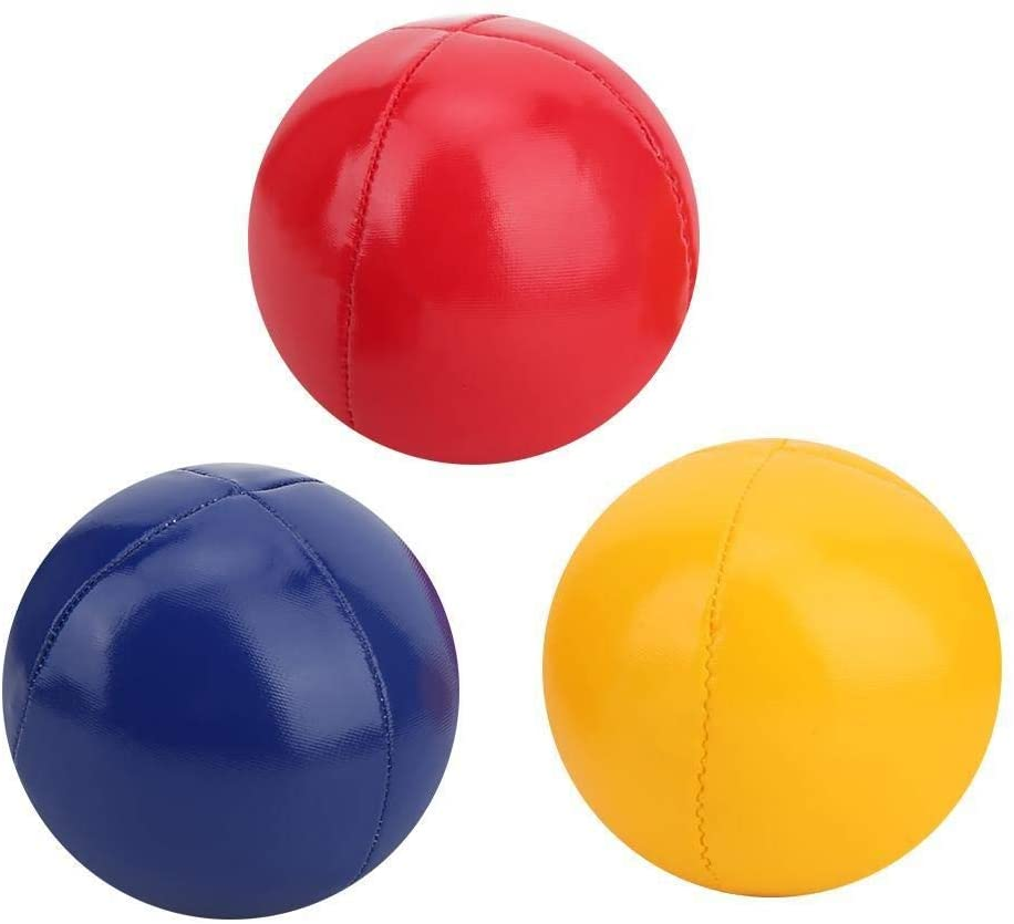 Conlense Juggling Ball with Net Bag Hand Throw Indoor Leisure Sports Ball Educational Toys
