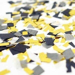 Black Gray White Gold Foil Shredded Confetti Paper Glitter Party Decoration