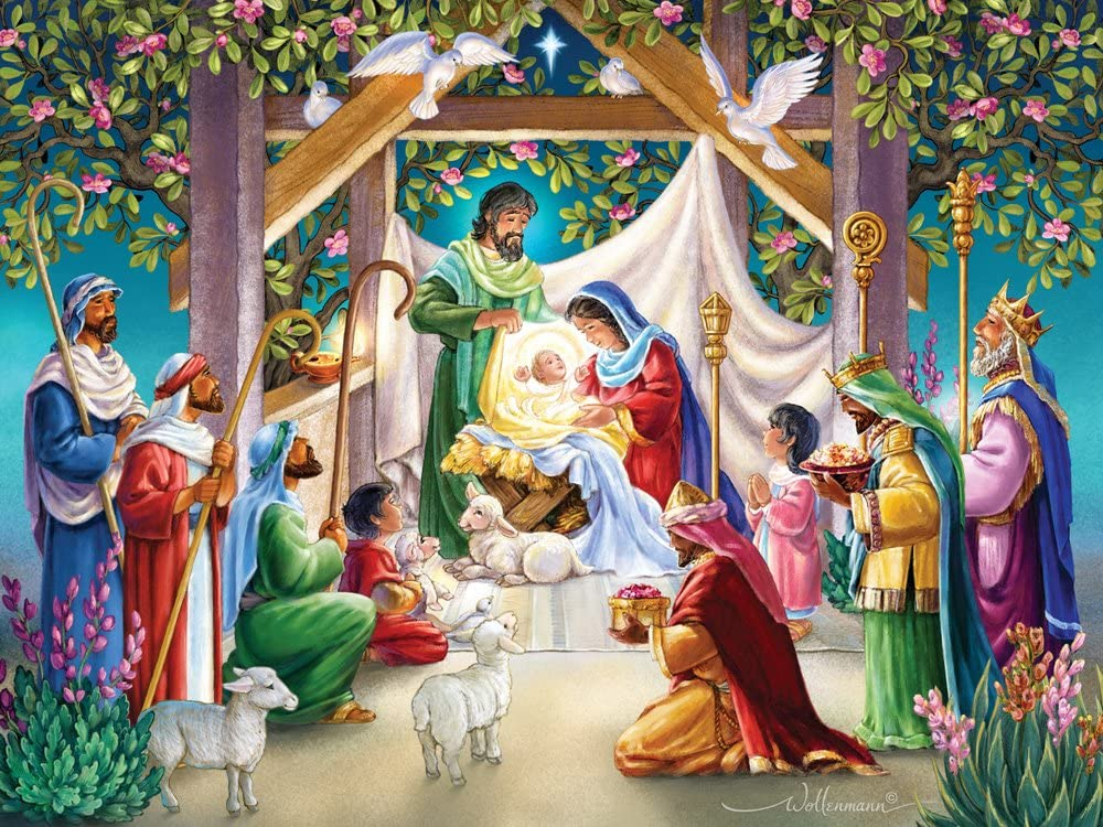 Magi at The Manger Jigsaw Puzzle 550 Piece
