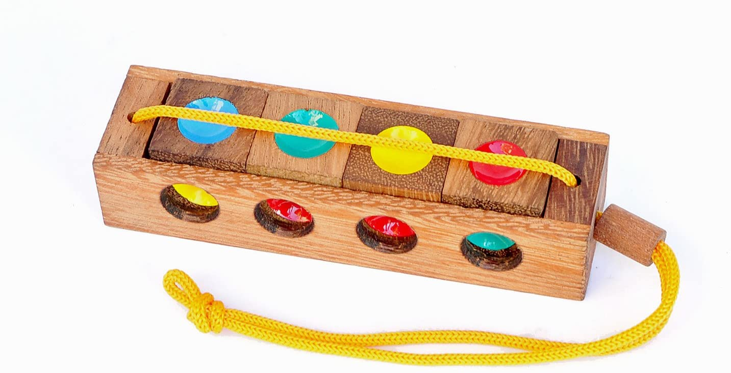 Logica Puzzles Art. Traffic Light - Wooden Brain Teaser in Fine Wood - 3 Puzzles in 1 - Difficulty 2/6 Medium