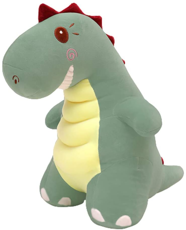 XIAOHUI Dinosaur Plush Animal Toy, Cute Cartoon Dinosaur Plush Doll, Children?s Birthday Gift, Valentine?s Day, Dinosaur Doll Sleeping Pillow Doll (Green,29.5 inches)