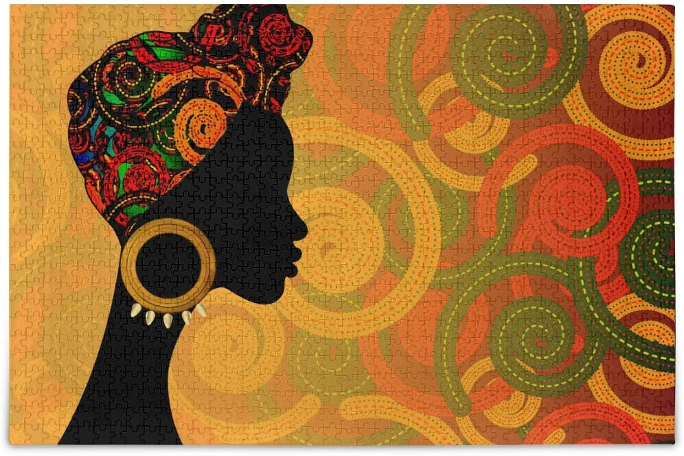 Africa American Black Pretty Girl Jigsaw Puzzles 500 Pieces for Adults Game Artwork Toy Gifts 2021878