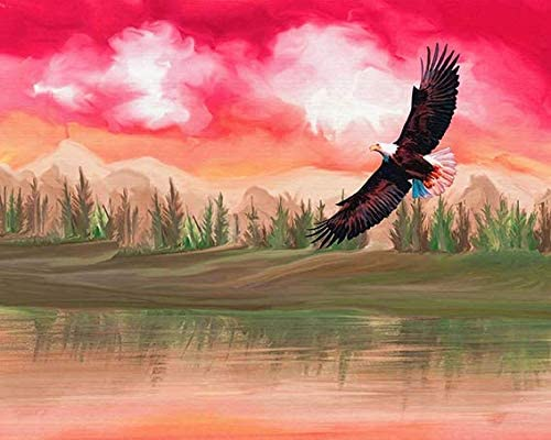 GKrepps Jigsaw Puzzle 500 Pieces-Flying Eagle-Wooden Jigsaw Puzzle for Adults Teens Kids Puzzle Game Decompression Toy Gift