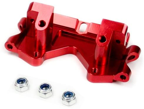 Traxxas Nitro Stampede 1:10 Aluminum Alloy Front Lower Bulkhead Hop Up Upgrade, Red by Atomik RC - Replaces Traxxas Part 2530