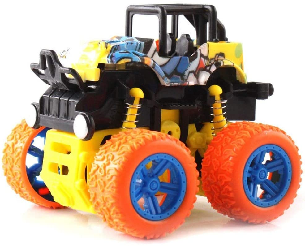 Hannaier Boys? Toys-Friction Driven Mini Push Car Truck Truck Truck Set, Boys and Girls, Toddlers, Age 2 3 4 5, Children?s Birthday Gift (O no Box)