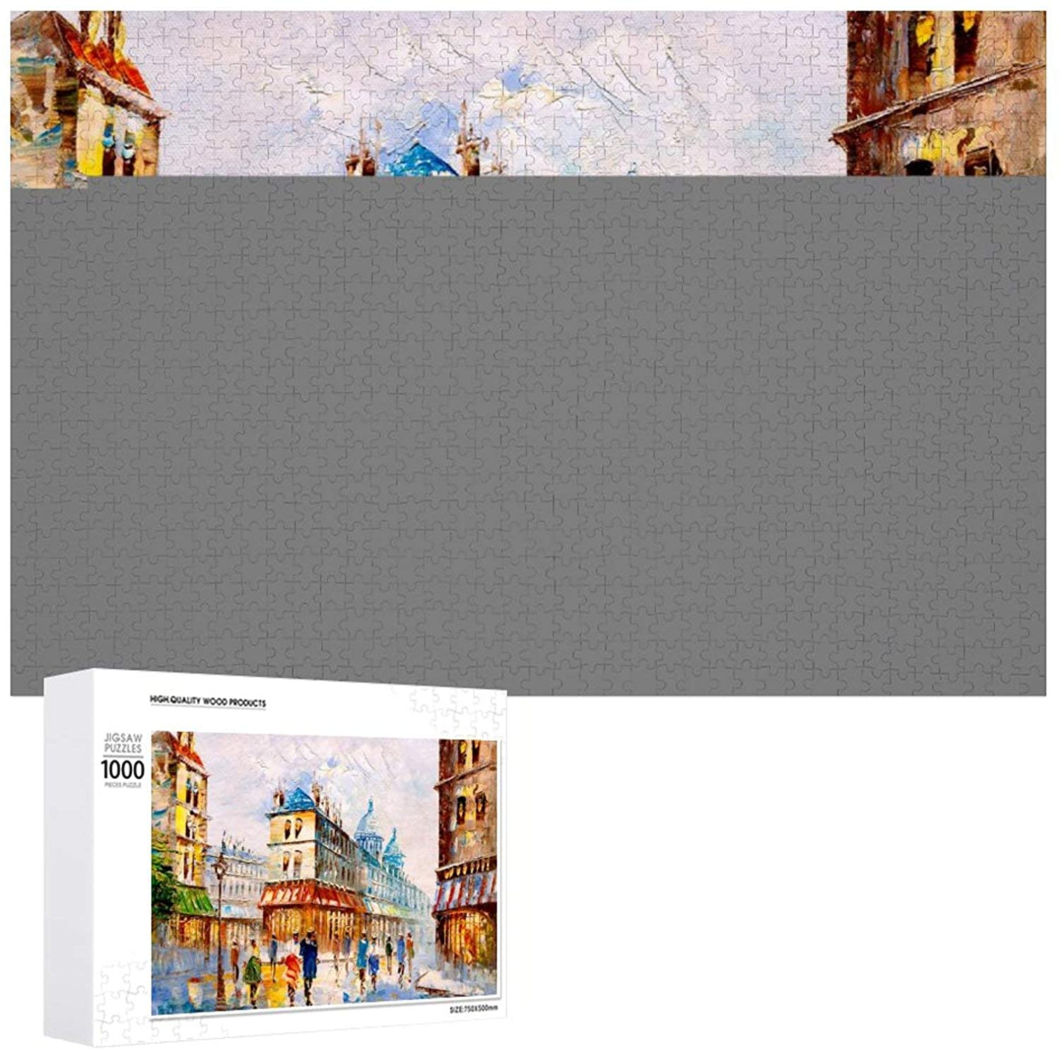 Wooden Puzzle Jigsaw, Best Gift for Adults and Kids, Unique Pattern Jigsaw Pieces Beautiful Natural Landscape Oil Painting, 1000 or 500 Piece for You to Choose