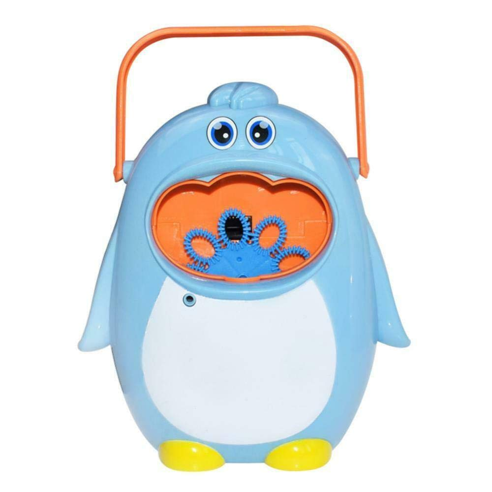 Baby Bath Whale, Bubble Machine Crab Frog Automatic Bubble Maker Blower Music Bath Toys for Baby,#24 Blue Penguin Bubble Maker