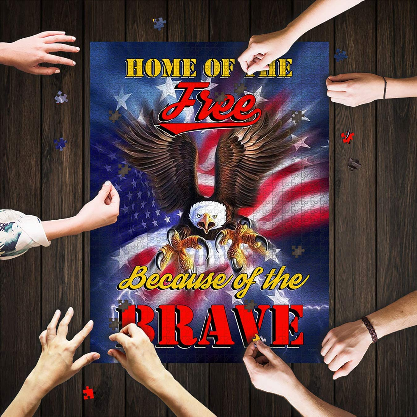 Home of The Free Puzzles -Puzzles for Adults 1000 Piece-Jigsaw Puzzles-Games for Adults-Puzzles for Adults (Multicolor, 1000 Pieces, Finished Size 30