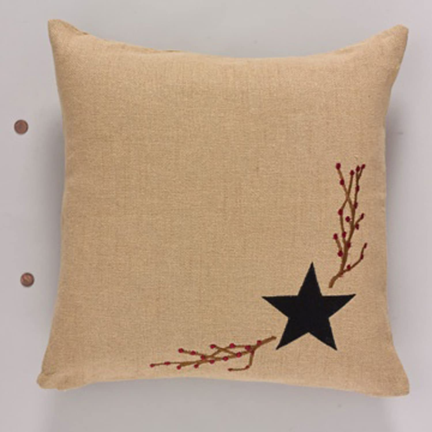 Park Designs Burlap Star Decorative Pillow