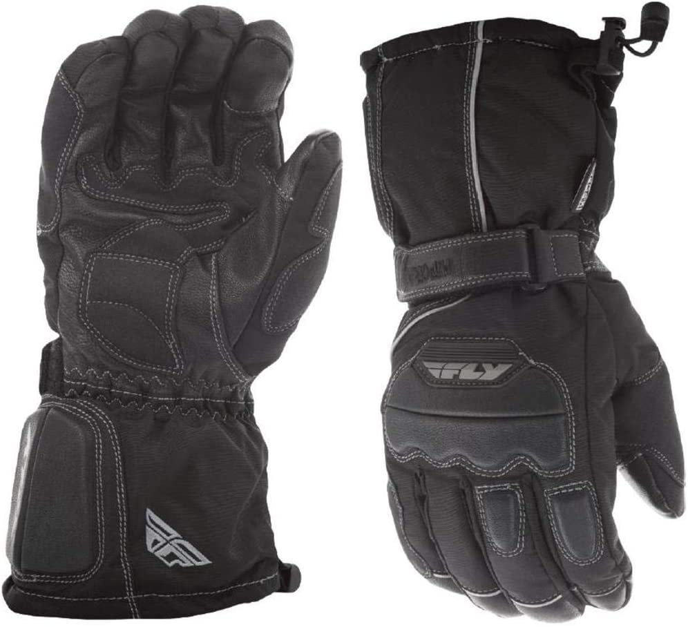 Fly Racing Aurora Adult Snowmobile Gloves - Black / 2X-Large