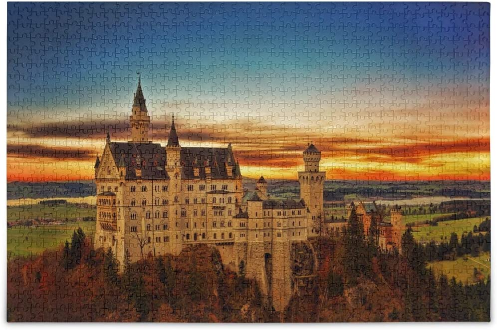Jigsaw Puzzles 500 Pieces for Adults Kids Castle Scenery Educational Fun Family Game 2020390