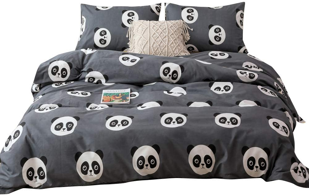 BoxHome Panda Kids Duvet Cover Twin Boys Bedding Duvet Cover Sets for Toddlers Children Teen Preschoolers