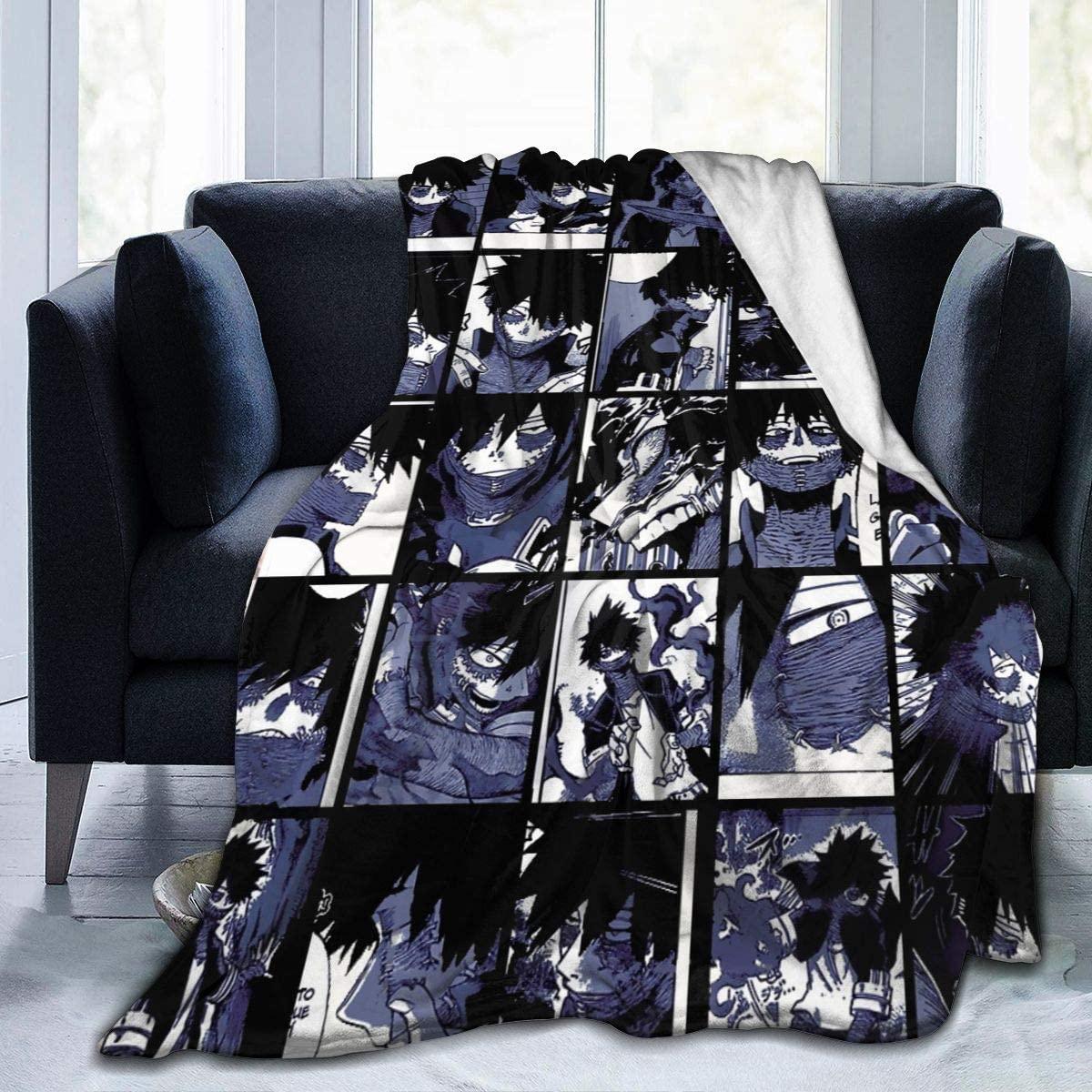 Meet Gentle My Hero Academia Dabi Collage Flannel Fleece Throw Blanket Lightweight Cozy Plush Microfiber Bedspreads Novelty Bedding Sofa Soft Air Conditioning Quilt S 50