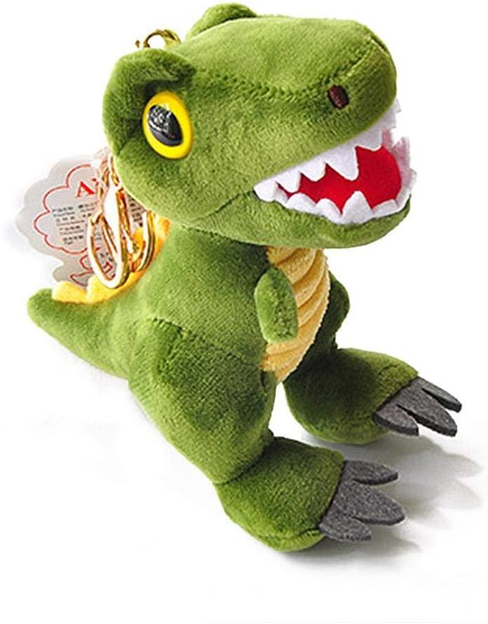 isilky Backpack Accessories Stuffed Animal Cute Kawaii Little Dinosaur Soft Stuffed Dolls Key Pendant Animal Plush Toys Gift for Kids/Boys/Girls