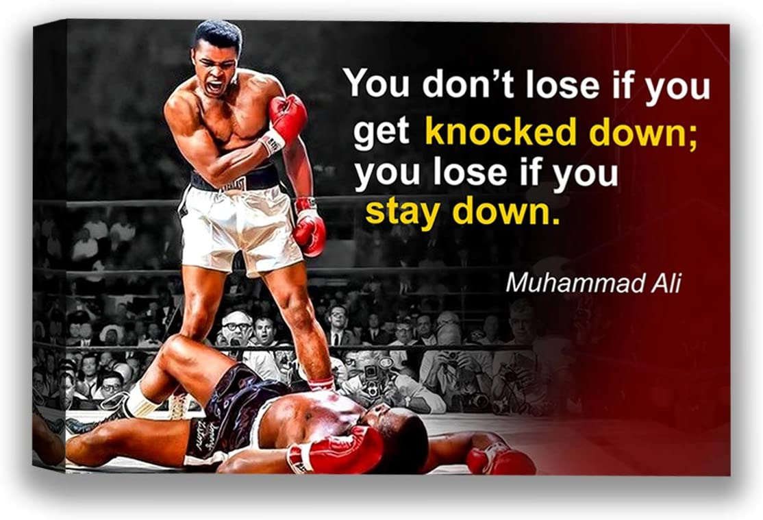 Funny Ugly Christmas Sweater Muhamm Ali Quote Art American Box Stars Vintage Wall Art Ali Canvas Wall Decor for Home Sport Quotes for Gym Muhamm Ali Fans Gifts 8