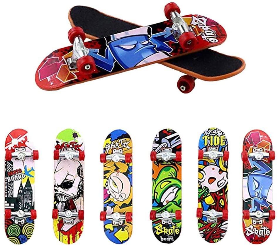 everlaste Finger Boards,Mini Fingerboards Finger Skateboard Toy,Novelty Children's Toy Matte Skateboard Party Favors for Kids, Christmas Birthday Gifts (Recommend Multiple Buy)