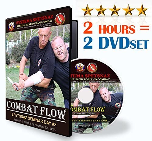 RUSSIAN SYSTEMA SPETSNAZ DVD - Combat Flow - 2 hours of Russian Martial Art Systema Training Video by Russian Special Forces, GRU unit - Hand-to-Hand Combat, Street Self-Defense Fighting