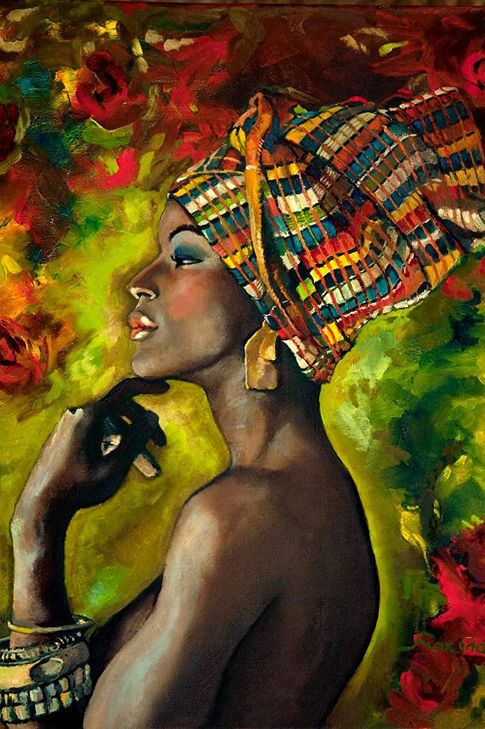 Puzzles for Adults,African American Girl, African American Lady,Wooden Puzzle for Kids (500 Piece, 20 15 inches, African American Woman Oil Painting 3)