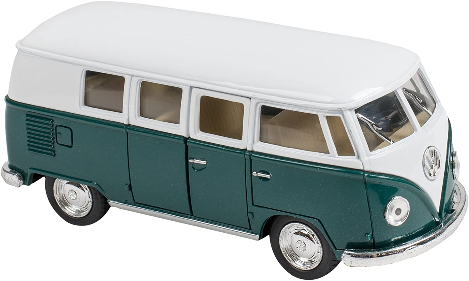 Master Toys & Novelties 1962 Volkswagon VW Micro Bus Die Cast Toy, Green and White