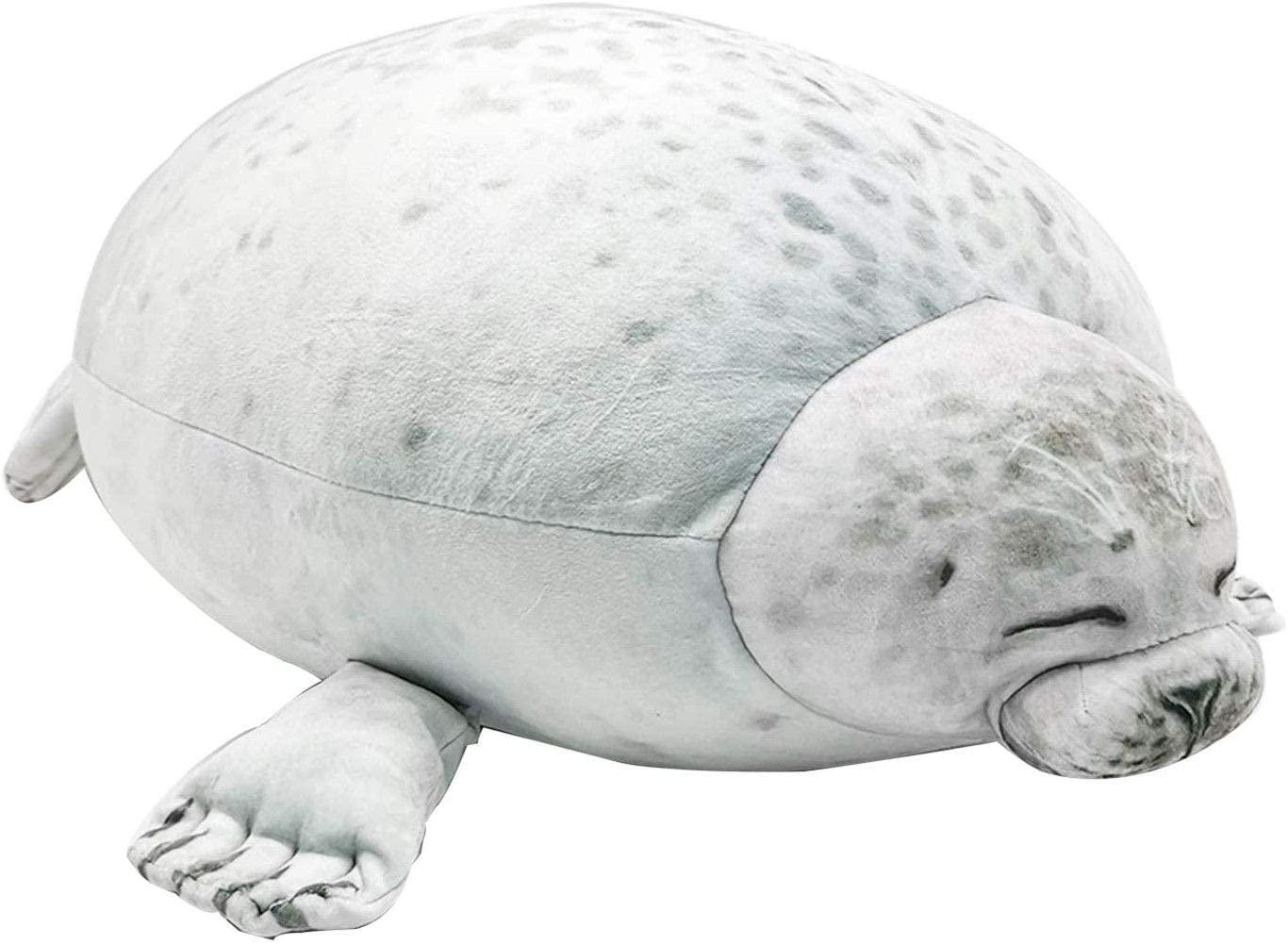 Gurnall Throw Pillow Cute Chubby Seal Pillow Soft Round Blob Seal Pillow Hug Plush Pillow Stuffed Cotton Animal Plush Toy