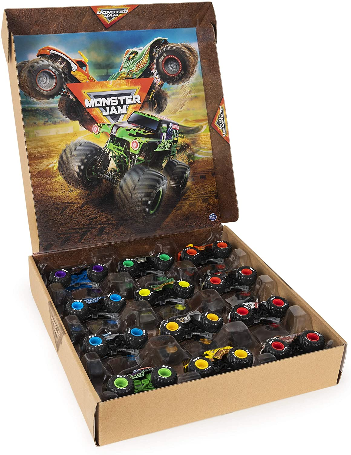 Monster Jam, Official 12-Pack of 1:64 Scale Die-Cast Monster Trucks, DHgate Exclusive