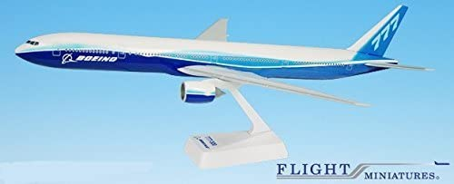 Boeing Demo (04-Cur) 777-300 Airplane Miniature Model Snap Fit 1:200 Part#ABO-77730H-003