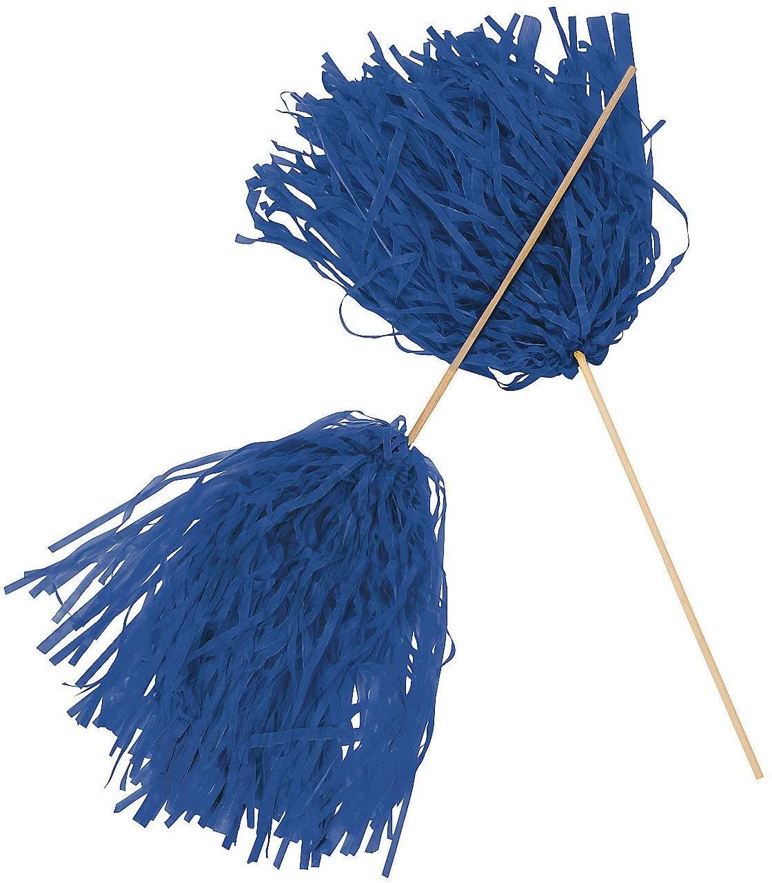 Spirit Pom-Poms - Blue - Novelty Toys & Pom - Poms (24 pieces)
