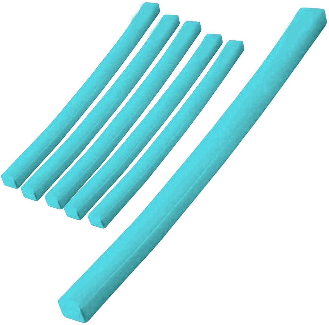 Vos Lazy Floats Soft Swimming Pool Noodle Premium Pool Float Summer Beach Fun Toy (6, Barrier Blue)
