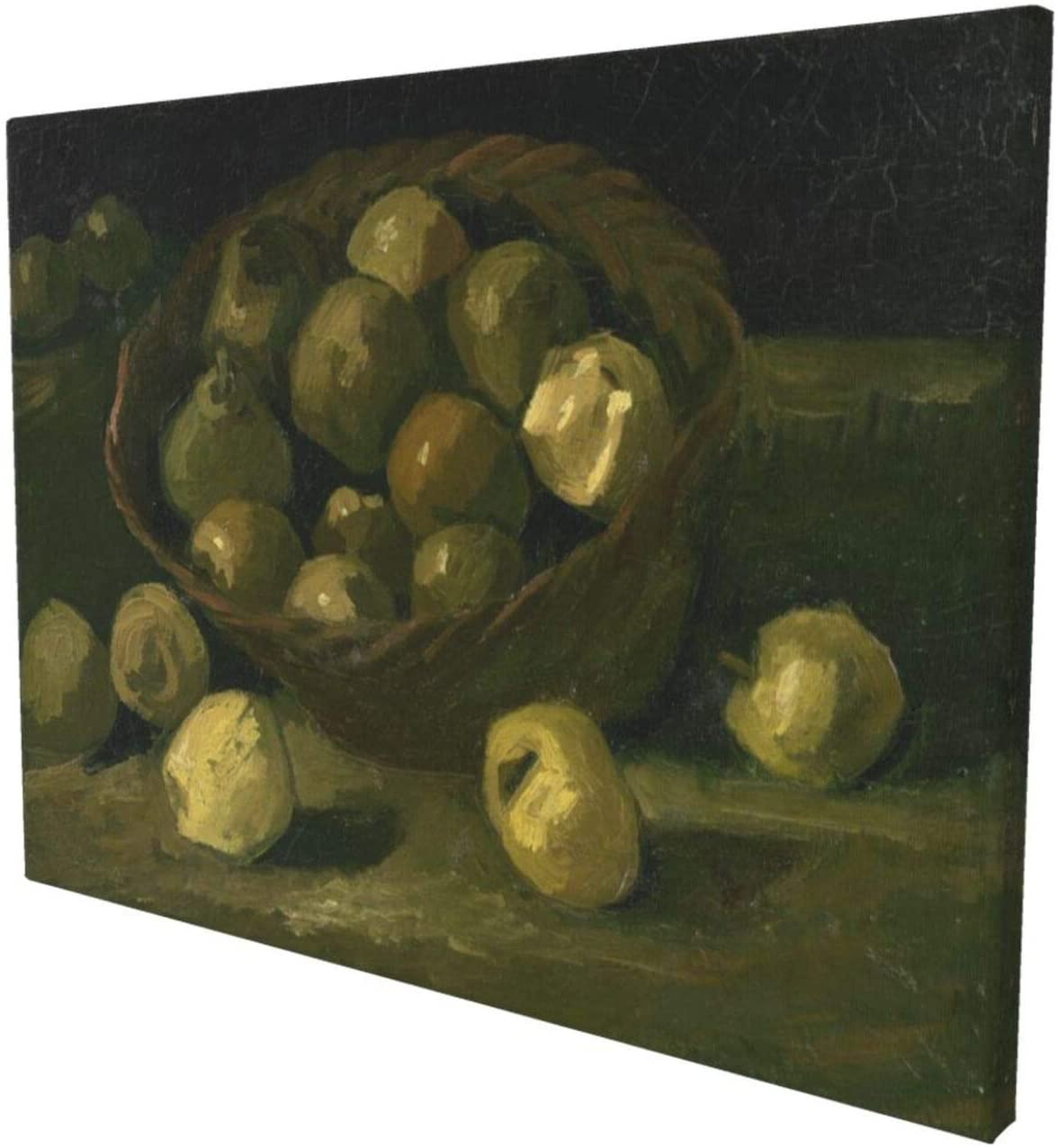 Basket Of Apples 1887 Van Gogh Tasteless 3d Oil Painting Wall Art Scattered Apples Decoration To Hang 12x18 Inch