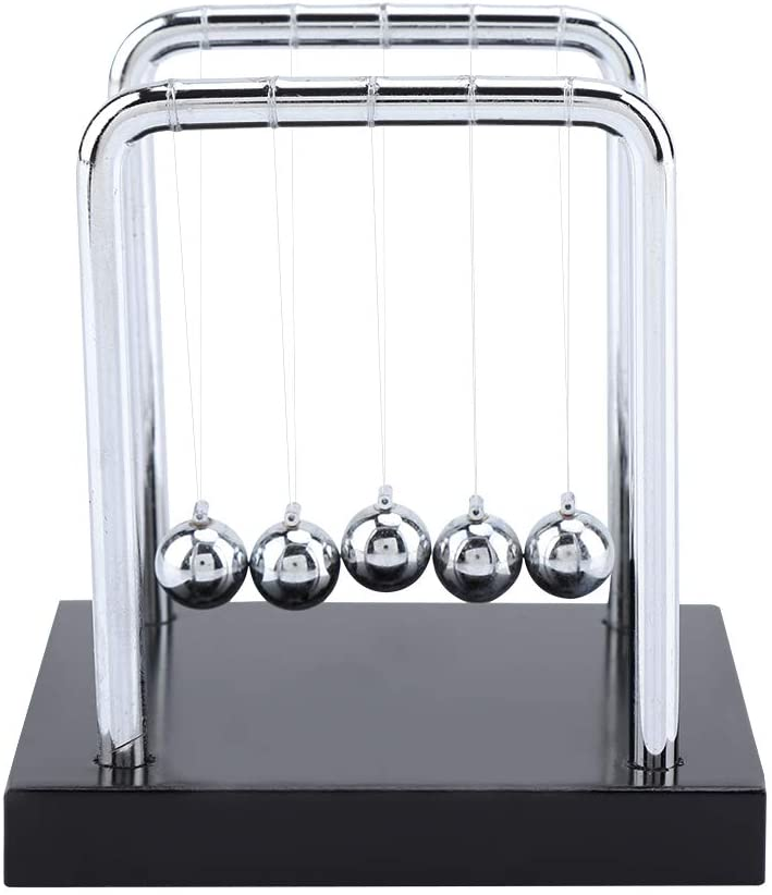 Owlike Newtons Cradle Balance Steel Balls Physics Science Pendulum Ornaments Toy Desk