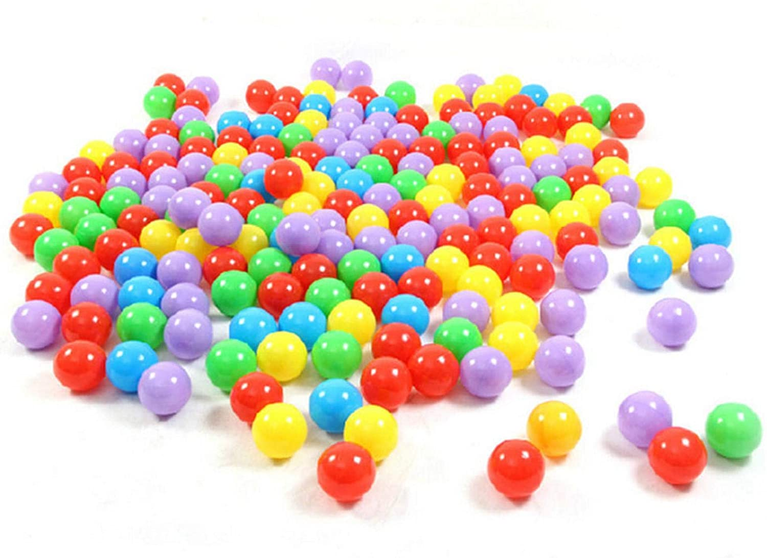 Paul03Daisy 5.5cm 100PCS Soft Plastic Kids Play Ball,Ocean Ball,Colorful Ball Fun Ball Kids Ball Swim Pit Toy Ball Tent Toddler Ball Play Balls for Indoor & Outdoor