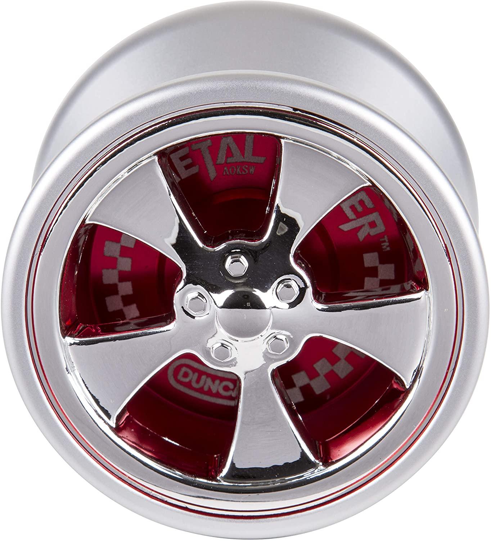 Duncan Toys Metal Racer Yo-Yo, Aluminum Advanced Level Yo-Yo with Racer Caps and SG Sticker Response, Red