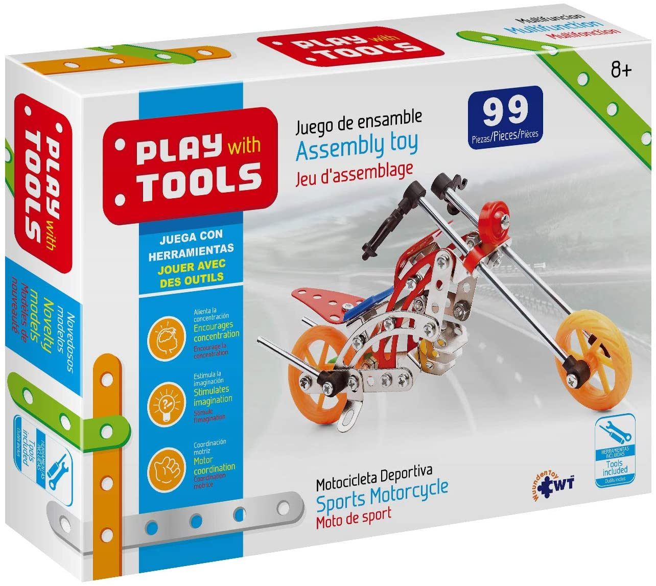 Wuundentoy Erector Set Sports Motorcycle Play with Tools Metal Building Sets