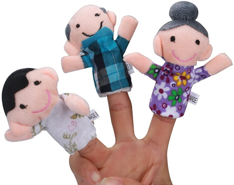 Printasaurus 6 Pcs Finger Even Storytelling Good Toys Hand Puppet for Baby's Gift Toys and Hobbies Education Toys