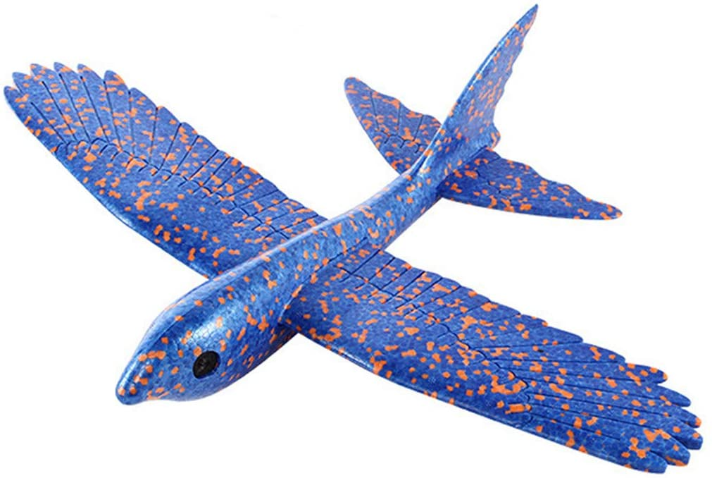 Ywoow Foam Throwing Glider Airplane Inertia Aircraft Toy Hand Launch Bird Model, Christmas