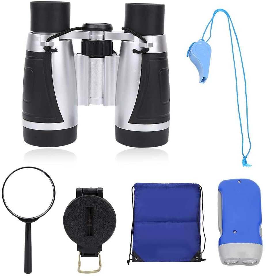 SH-RuiDu Portable Durable Children Binocular High-Definition Kids Telescope Set for Outdoor Sport Game Toy