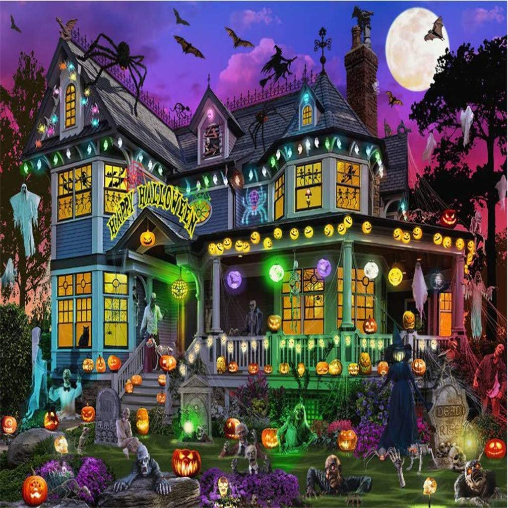 Bessbest 1000 Piece Puzzle for Adults,Halloween Puzzle Jigsaw Landscape Pattern Children's Educational Ideal for Relaxation
